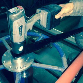 Lithium brukes til å sku en manuell ventil